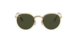 2131fa1afa RB3447 50 ROUND METAL  Shop Ray-Ban Gold Panthos Sunglasses at ...