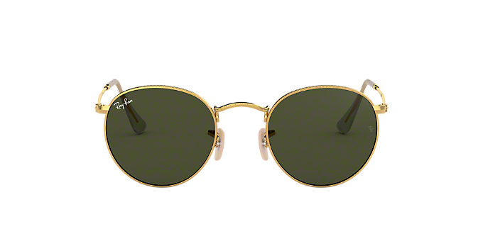 02a7197450 RB3447 50 ROUND METAL  Shop Ray-Ban Gold Panthos Sunglasses at ...
