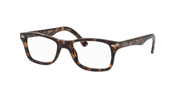 0bb55568a9a RX5228  Shop Ray-Ban Brown Tan Square Eyeglasses at LensCrafters