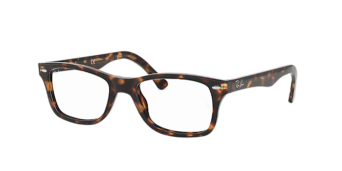 67b99056fb RX5228  Shop Ray-Ban Brown Tan Square Eyeglasses at LensCrafters