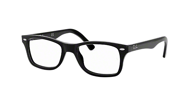 6f1c1188fd RX5228  Shop Ray-Ban Black Square Eyeglasses at LensCrafters