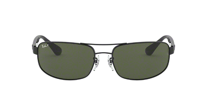 2f56130aea RB3445 61  Shop Ray-Ban Black Rectangle Sunglasses at LensCrafters