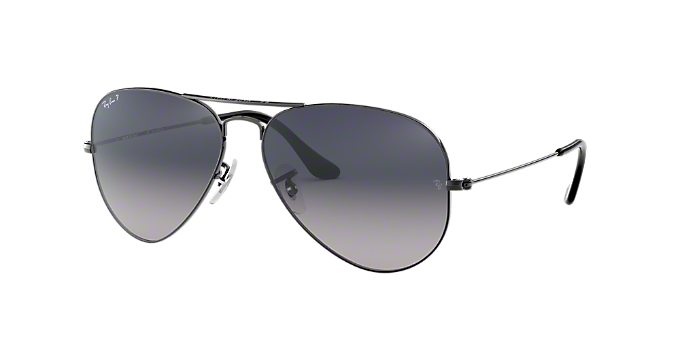 9510d4c727 RB3025 55 AVIATOR: Shop Ray-Ban Silver/Gunmetal/Grey Pilot ...