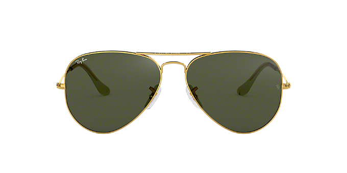f97b84d59c RB3025 58 ORIGINAL AVIATOR  Shop Ray-Ban Gold Pilot Sunglasses at ...
