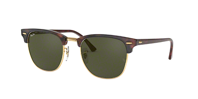 5cc78c22b42 RB3016 49 CLUBMASTER  Shop Ray-Ban Tortoise Square Sunglasses at ...