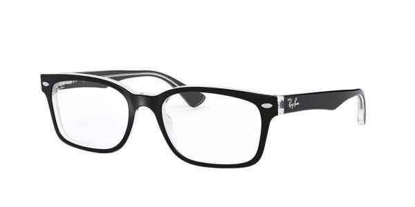 d3d46fdec6 RX5286  Shop Ray-Ban Black Square Eyeglasses at LensCrafters
