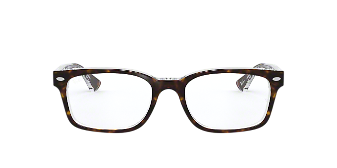 8c9c621c8f RX5286  Shop Ray-Ban Tortoise Square Eyeglasses at LensCrafters