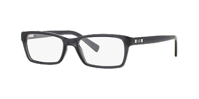 f48e3af024 AX3007: Ver Espejuelos rectangulares Armani Exchange Black en ...