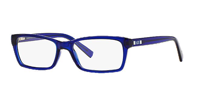 89e0aa3471e AX3007  Shop Armani Exchange Blue Rectangle Eyeglasses at LensCrafters