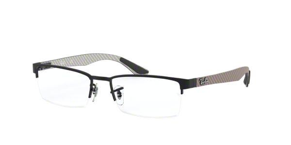 1c20035dddba7 RX8412  Shop Ray-Ban Black Rectangle Eyeglasses at LensCrafters