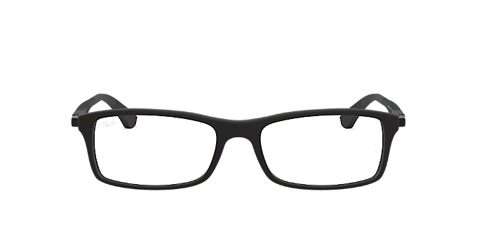 RX7017: Shop Ray-Ban Black Rectangle Eyeglasses at LensCrafters