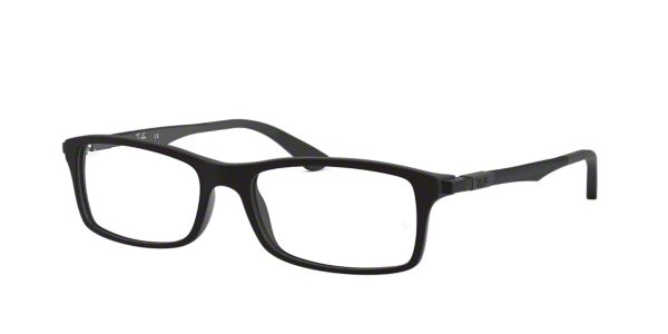 4c26d96b838 RX7017  Shop Ray-Ban Black Rectangle Eyeglasses at LensCrafters