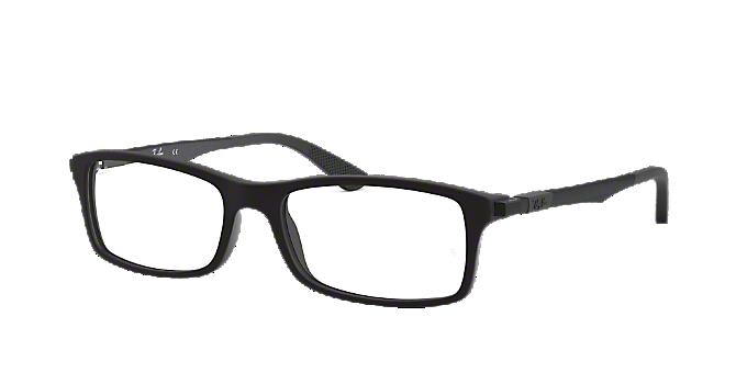 RX7017: Shop Ray-Ban Black Rectangle Eyeglasses at LensCrafters