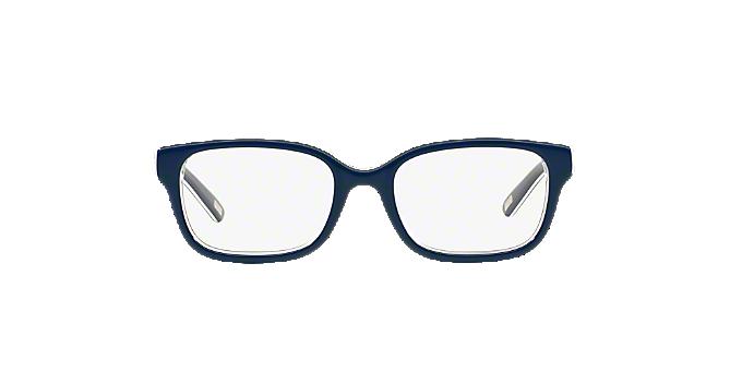 0PP8520: Shop Polo Prep Blue Rectangle Eyeglasses at LensCrafters