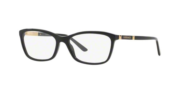 dc86f43be70 VE3186  Shop Versace Black Butterfly Eyeglasses at LensCrafters