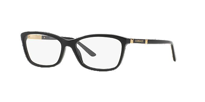 VE3186: Shop Versace Black Butterfly Eyeglasses at LensCrafters