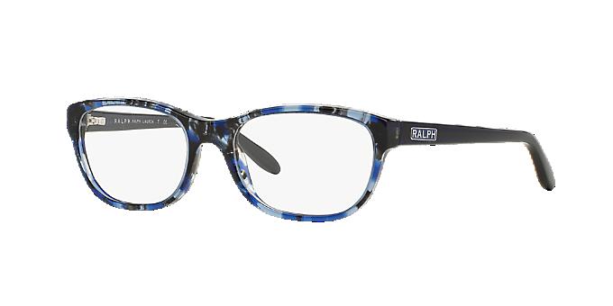 RA7043: Shop Ralph Blue Square Eyeglasses at LensCrafters