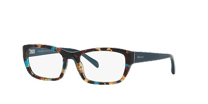01baf0e8a11a PR 18OV: Shop Prada Tortoise Rectangle Eyeglasses at LensCrafters