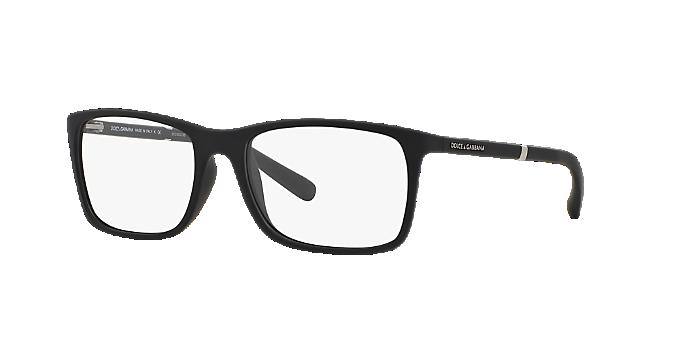 DG5004: Shop Dolce & Gabbana Black Rectangle Eyeglasses at LensCrafters