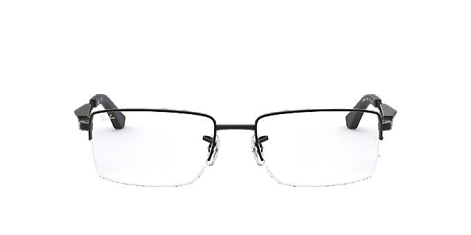 2414f5d950e9f RX6285  Shop Ray-Ban Black Rectangle Eyeglasses at LensCrafters