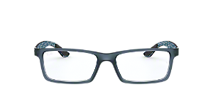 080a8efd12c RX8901  Shop Ray-Ban Blue Rectangle Eyeglasses at LensCrafters