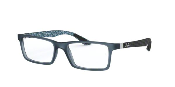 57b63ff6d1 RX8901  Shop Ray-Ban Blue Rectangle Eyeglasses at LensCrafters