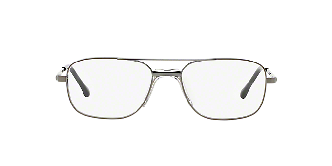 2b28df301e44 SF2268  Shop Sferoflex Silver Gunmetal Grey Square Eyeglasses at ...