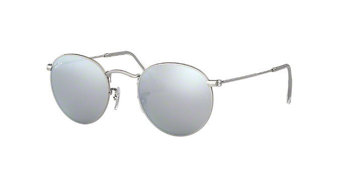 79ffda78f3c RB3447 (50)  Shop Ray-Ban Silver Gunmetal Grey Panthos Sunglasses at  LensCrafters