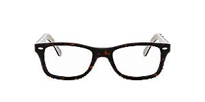87d9eb3637e RX5228  Shop Ray-Ban Green Square Eyeglasses at LensCrafters