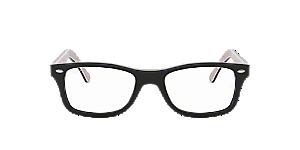 417e40739b993 RX5228  Shop Ray-Ban Black Square Eyeglasses at LensCrafters