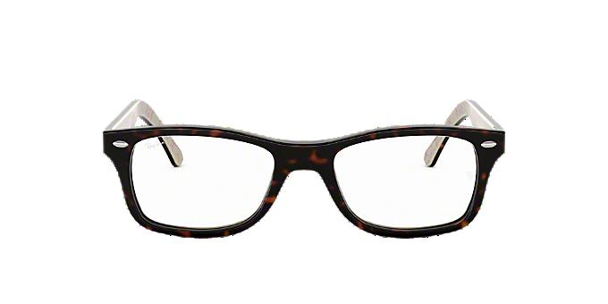 5675247ec1bc RX5228  Shop Ray-Ban Tortoise Square Eyeglasses at LensCrafters