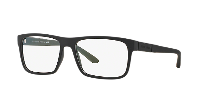 98f84397d3 AR7042  Shop Giorgio Armani Black Rectangle Eyeglasses at LensCrafters