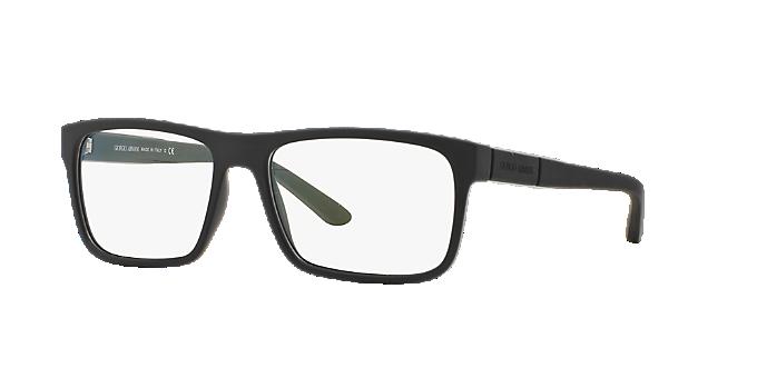 AR7042: Shop Giorgio Armani Black Rectangle Eyeglasses at LensCrafters