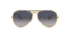 RB3025 58 ORIGINAL AVIATOR  Shop Ray-Ban Gold Pilot Sunglasses at ... 3e8687510