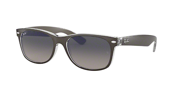 e2d30e6699d RB2132 52 NEW WAYFARER  Shop Ray-Ban Silver Gunmetal Grey Square ...