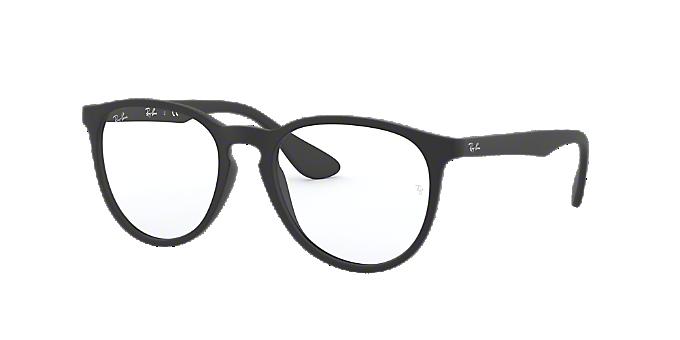 561b0c6eebf5a RX7046  Shop Ray-Ban Black Rectangle Eyeglasses at LensCrafters