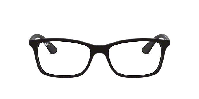 6e50879787 RX7047  Shop Ray-Ban Black Rectangle Eyeglasses at LensCrafters