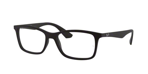 ed5cf2268e RX7047  Shop Ray-Ban Black Rectangle Eyeglasses at LensCrafters