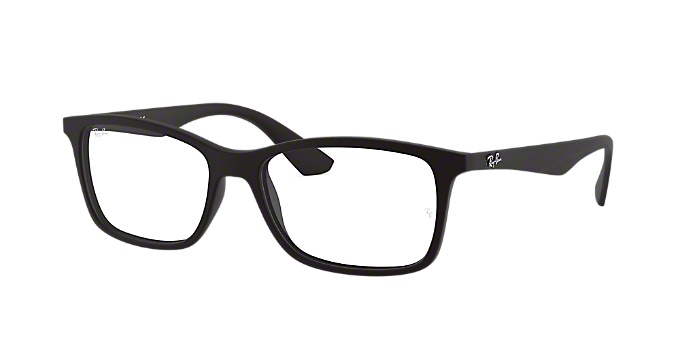 9df8f51f6d RX7047  Shop Ray-Ban Black Rectangle Eyeglasses at LensCrafters