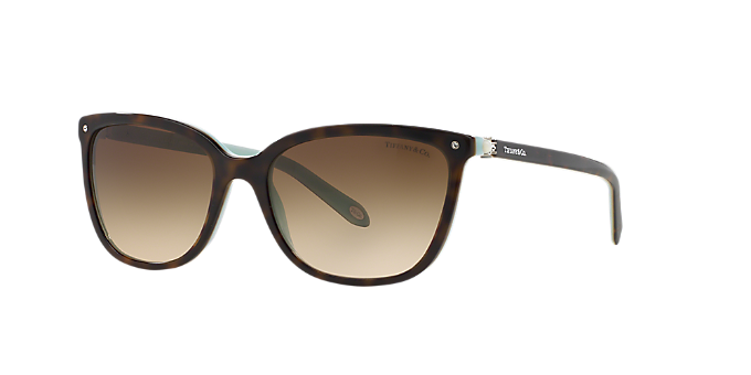 5c35c81bac53 TF4105HB 55  Shop Tiffany Tortoise Square Sunglasses at LensCrafters