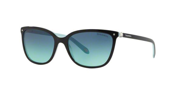 8a8c87e035a TF4105HB 55  Shop Tiffany Black Square Sunglasses at LensCrafters