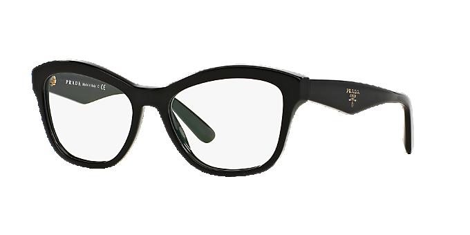 PR 29RV: Shop Prada Black Cat Eye Eyeglasses at LensCrafters