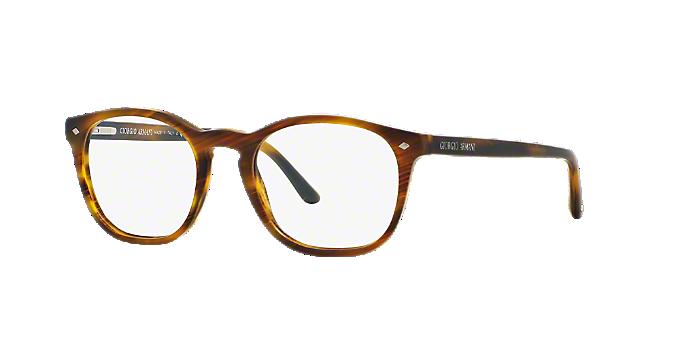 AR7074: Shop Giorgio Armani Brown/Tan Round Eyeglasses at LensCrafters