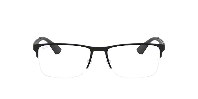 9dffb986b9 RX6335  Shop Ray-Ban Black Rectangle Eyeglasses at LensCrafters