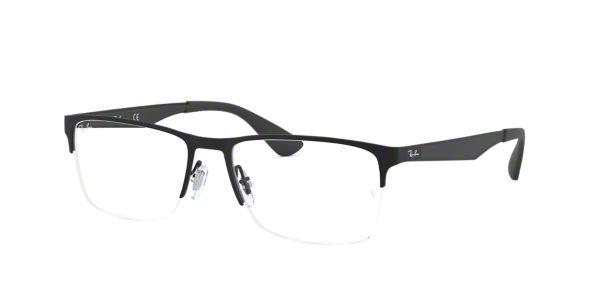 f351492065 RX6335  Shop Ray-Ban Black Rectangle Eyeglasses at LensCrafters