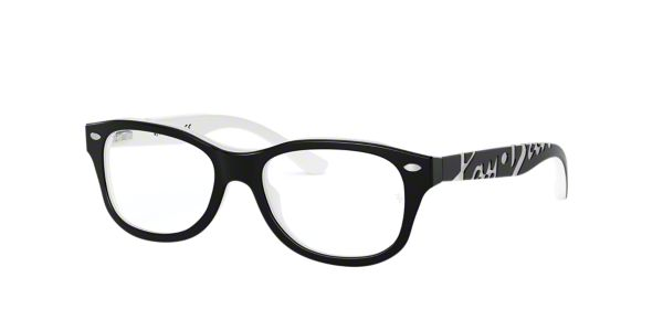 8e751552d3 RY1544  Shop Ray-Ban Jr Black Pillow Eyeglasses at LensCrafters