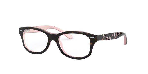 6093267d18 RY1544  Shop Ray-Ban Jr Tortoise Pillow Eyeglasses at LensCrafters