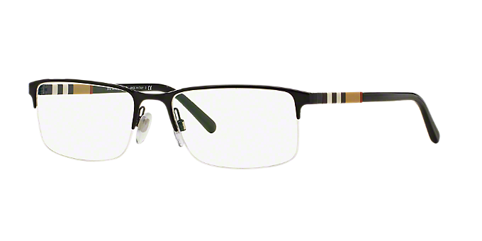 BE1282: Shop Burberry Black Rectangle Eyeglasses at LensCrafters