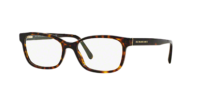 BE2201: Shop Burberry Tortoise Rectangle Eyeglasses at LensCrafters