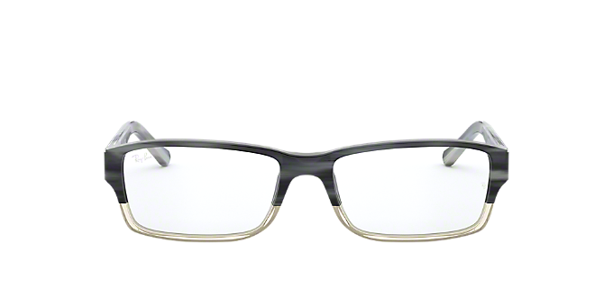 4a5560fb96b RX5169  Shop Ray-Ban Silver Gunmetal Grey Rectangle Eyeglasses at ...